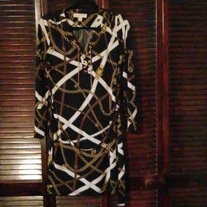 Navy blue Michael Kors size small chain link dress